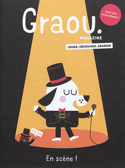 MAGAZINE GRAOU N 15 - AU SPECTACLE - ILLUSTRATIONS, COULEUR